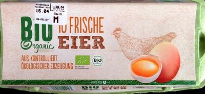 10 frische Bio Eier