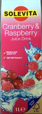 Cranberry & raspberry juice drink