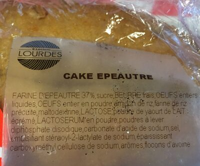 Cake epeautre