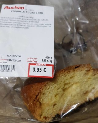 Coquille sucre 400g