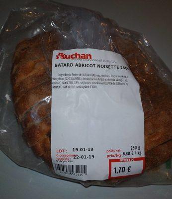 Pain batard abricot noisette