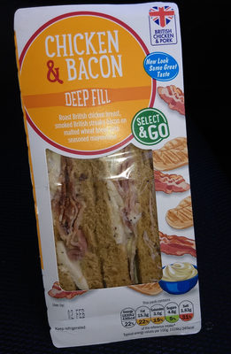 Lidl chicken and bacon sandwich