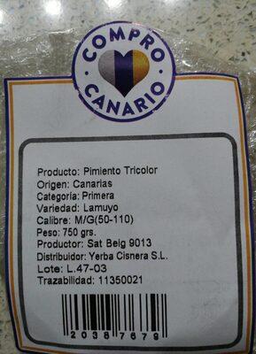 Pimiento tricolor
