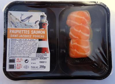 Paupiettes saumon-st jacques-poireau