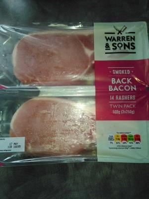 smoked back bacon - 14 rashers
