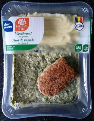 Vleesbrood met spinazie