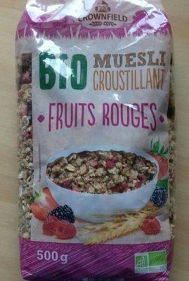 Muesli fruits rouges croustillant Bio