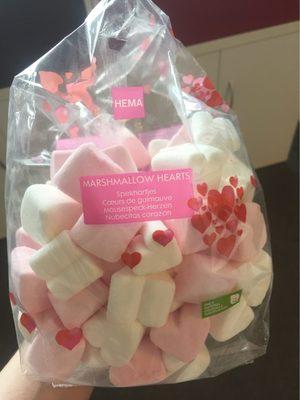 Marshmallows hearts