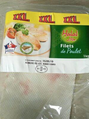 Filets de poulet halal