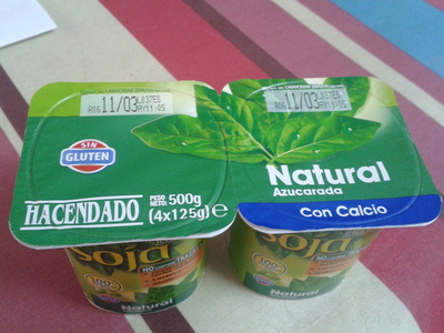 Postre de soja natural