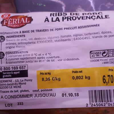 ribs provencale