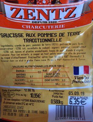 Saucisse aux pommes de terre traditionnelle