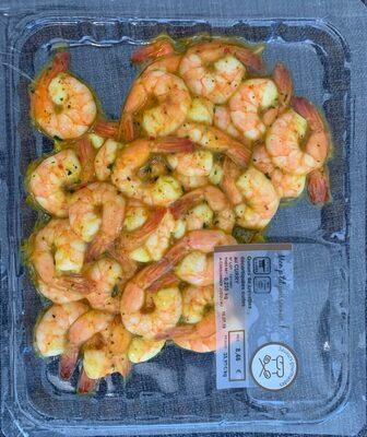 Queues de crevettes cuites decortiquées