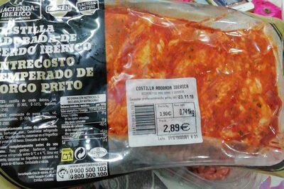 Costilla adobada de cerdo iberico