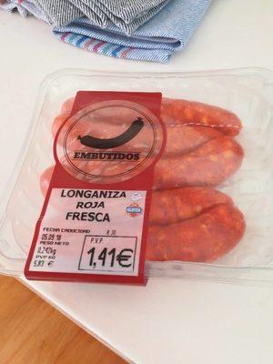 Longaniza Roja fresca