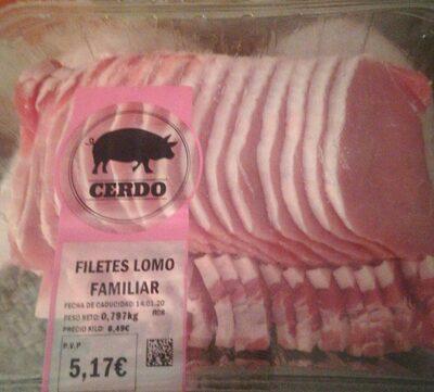 Filetes lomo cerdo
