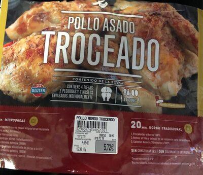 Pollo asado troceado