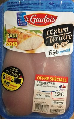Filets de poulet L'extra tendre