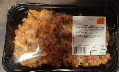 Émincé de porc mariné curry-coco