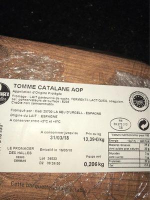 Tomme catalane aop