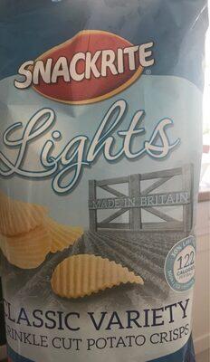 Light crinkle potato crisps
