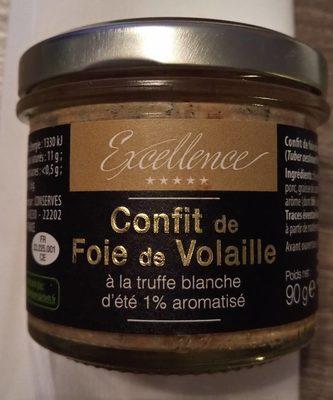 Confit de foie de volaille à la truffe blanche d'été