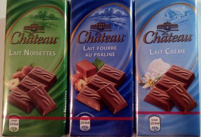 Chocolat au lait noisette ou lait fourré praliné ou lait crème