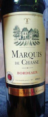 Vin rouge Marquis de chasse bordeaux 2016