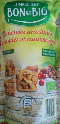 Bouchées arachides amandes et canneberge