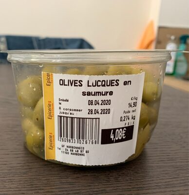 Olives lucques en saumure