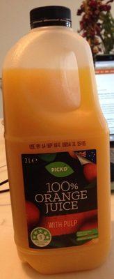 100% Orange juice with pulp