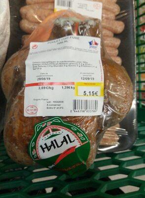 Poulet cuit fumé Halal