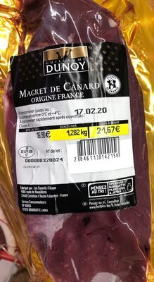 Magret de canard origine france