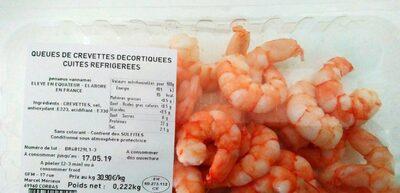 Queues de crevettes cuites réfrigérées