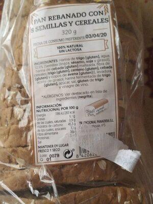 Pan rebanado 8 semillas y cereales