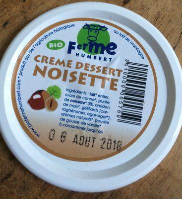 Creme dessert noisette