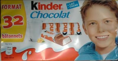Kinder Chocolat (format 32 bâtonnets)