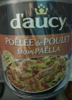 Poelee de poulet facon paella