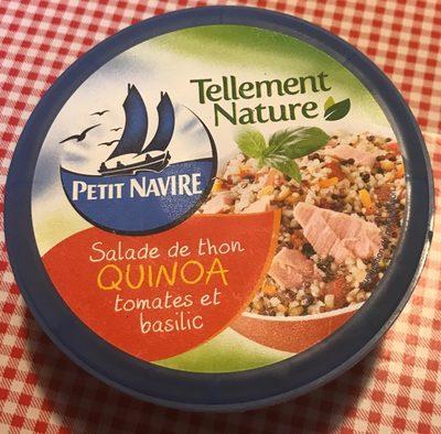 Salade thon quinoa tomates et basilic