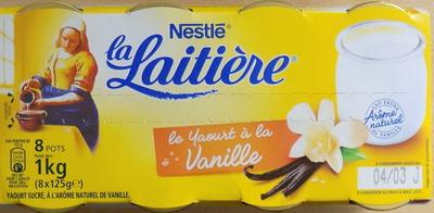 Le yaourt à la vanille