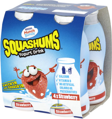 Munch Bunch Squashums Yogurt Drinks Strawberry