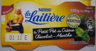 Le Petit Pot de Crème, Chocolat-Menthe (4 Pots)
