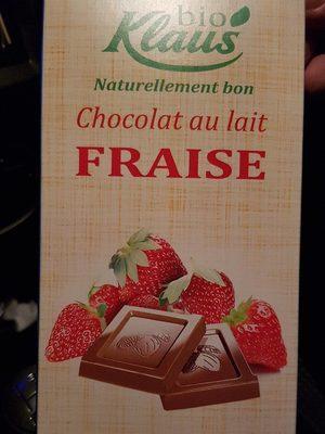 Chocolat au lait fraise