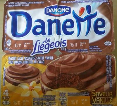 Danette Le Liégeois Saveur Vanille