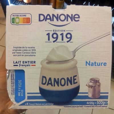 Yaourt au lait entier nature