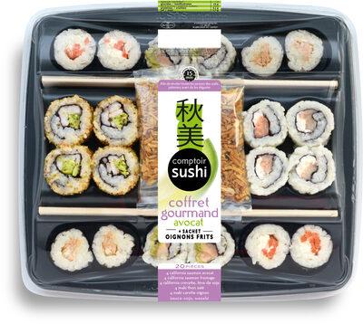Coffret 20 pcs avocat gourmand comptoir sushi