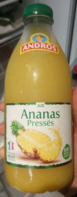 Jus d'Ananas pressés sans sucres ajoutés