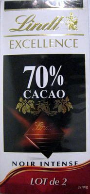 Chocolat Excellence 70% cacao noir intense
