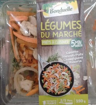 Légumes du marché Carottes/Haricots Plats/Champignons/Romarin