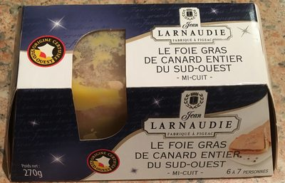 Le foie gras de canard entier du sud ouest mi cuit